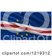 Clipart Of A 3d Waving Flag Of Cape Verde With Rippled Fabric Royalty Free Illustration