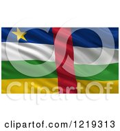 Clipart Of A 3d Waving Flag Of The Central African Republic With Rippled Fabric Royalty Free Illustration