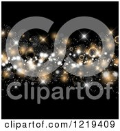 Clipart Of Bokeh Stars And Flares On Black Royalty Free Illustration