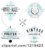 Clipart Of Vintage Clothing And Linen Labels With Sample Text Royalty Free Vector Illustration by BestVector