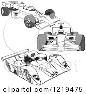 Clipart Of F1 Race Cars 2 Royalty Free Vector Illustration by dero