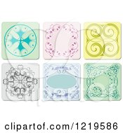 Clipart Of Ornamental Tiles Royalty Free Vector Illustration by leonid