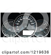 Clipart Of A Dashboard Royalty Free Vector Illustration