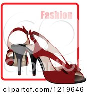Clipart Of High Heels On A Fashion Icon 2 Royalty Free Vector Illustration
