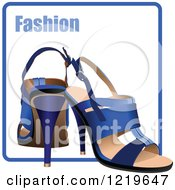 Clipart Of High Heels On A Fashion Icon Royalty Free Vector Illustration