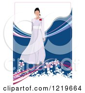 Clipart Of A Bride Modeling A Dress 2 Royalty Free Vector Illustration