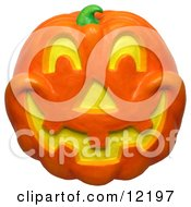 Clay Sculpture Clipart Jackolantern Face Royalty Free 3d Illustration