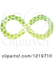 Clipart Of A Green Patterned Infinity Symbol Royalty Free Vector Illustration