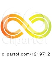 Clipart Of A Gradient Infinity Symbol Royalty Free Vector Illustration