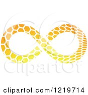 Orange Patterned Infinity Symbol