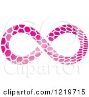 Clipart Of A Pink Patterned Infinity Symbol Royalty Free Vector Illustration