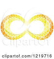 Orange Patterned Infinity Symbol 2
