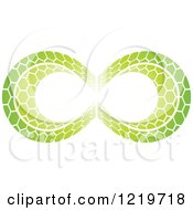 Clipart Of A Green Patterned Infinity Symbol 2 Royalty Free Vector Illustration