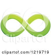 Clipart Of A Green Infinity Symbol Royalty Free Vector Illustration