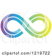 Clipart Of A Gradient Infinity Symbol 2 Royalty Free Vector Illustration