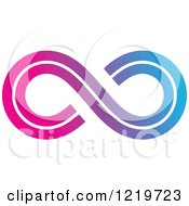 Clipart Of A Gradient Infinity Symbol 3 Royalty Free Vector Illustration