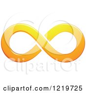 Clipart Of An Orange Infinity Symbol Royalty Free Vector Illustration