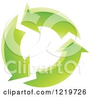 Clipart Of A Circle Of Green Arrows Royalty Free Vector Illustration by cidepix