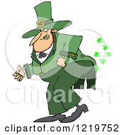 St Patricks Day Leprechaun Farting Shamrocks