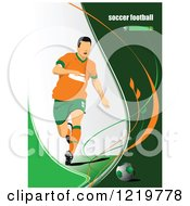 Clipart Of A Soccer Player With Text 2 Royalty Free Vector Illustration