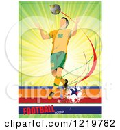 Clipart Of A Soccer Player With Text 6 Royalty Free Vector Illustration