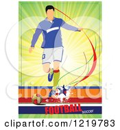 Clipart Of A Soccer Player With Text 7 Royalty Free Vector Illustration