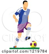 Clipart Of A Soccer Player 3 Royalty Free Vector Illustration