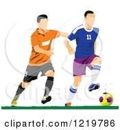 Clipart Of Soccer Players 2 Royalty Free Vector Illustration