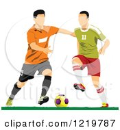 Clipart Of Soccer Players 3 Royalty Free Vector Illustration
