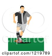 Clipart Of A Soccer Player 2 Royalty Free Vector Illustration