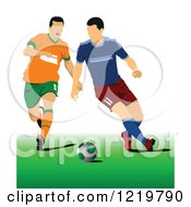 Clipart Of Soccer Players Royalty Free Vector Illustration