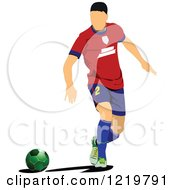Clipart Of A Soccer Player 5 Royalty Free Vector Illustration