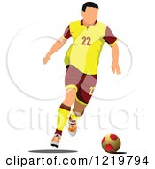 Clipart Of A Soccer Player 6 Royalty Free Vector Illustration