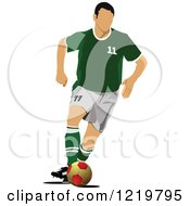 Clipart Of A Soccer Player 7 Royalty Free Vector Illustration