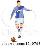 Clipart Of A Soccer Player 8 Royalty Free Vector Illustration