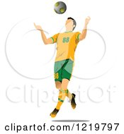 Clipart Of A Soccer Player 9 Royalty Free Vector Illustration