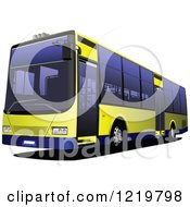 Clipart Of A City Bus 4 Royalty Free Vector Illustration