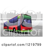 Clipart Of A City Bus 2 Royalty Free Vector Illustration