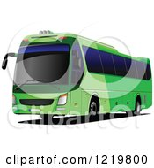 Clipart Of A City Bus 3 Royalty Free Vector Illustration