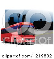 Clipart Of A City Bus Royalty Free Vector Illustration