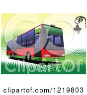 Clipart Of A City Bus 5 Royalty Free Vector Illustration