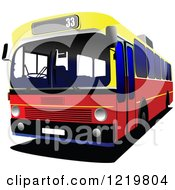 Clipart Of A City Bus 6 Royalty Free Vector Illustration