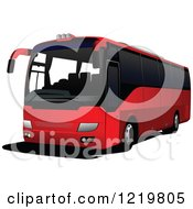 Clipart Of A City Bus 7 Royalty Free Vector Illustration
