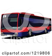 Clipart Of A City Bus 8 Royalty Free Vector Illustration
