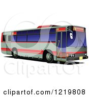 Clipart Of A City Bus 9 Royalty Free Vector Illustration