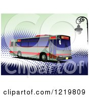 Clipart Of A City Bus 10 Royalty Free Vector Illustration