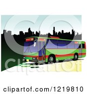 Clipart Of A City Bus 11 Royalty Free Vector Illustration