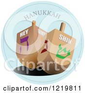 Clipart Of Hanukkah Driedels Royalty Free Vector Illustration by leonid