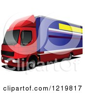 Clipart Of A Big Rig Lorry Royalty Free Vector Illustration