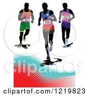 Clipart Of Runners Royalty Free Vector Illustration by leonid